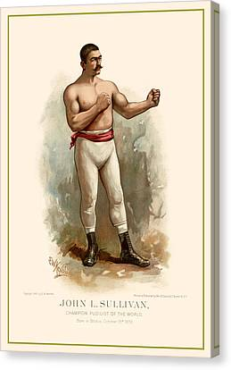 John L. Sullivan Boxer Canvas Print by Gary Grayson