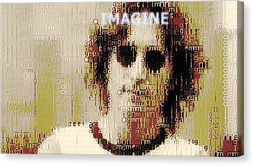 John Lennon Imagine Typography Canvas Print by Dan Sproul