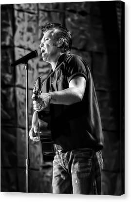John Mellencamp On Guitar Canvas Print by Jennifer Rondinelli Reilly - Fine Art Photography