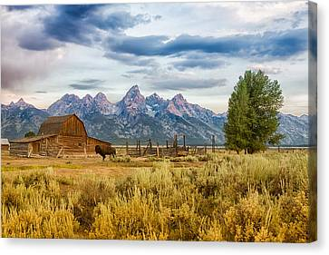 John Moulton Barn - Grand Teton National Park Canvas Print by Andres Leon