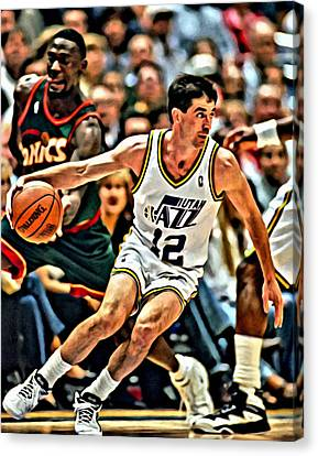 John Stockton Canvas Print by Florian Rodarte