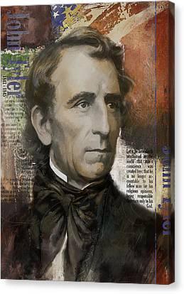 John Tyler Canvas Print by Corporate Art Task Force