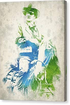 John Wayne  Canvas Print by Aged Pixel