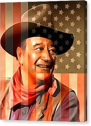 John Wayne American Cowboy Canvas Print by Dan Sproul