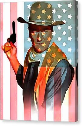 John Wayne American Icon Canvas Print by Dan Sproul