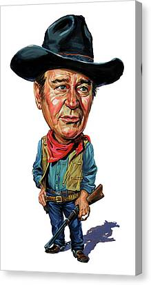 John Wayne Canvas Print by Art