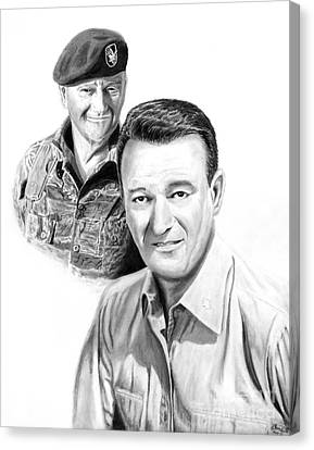 John Wayne Canvas Print by Peter Piatt