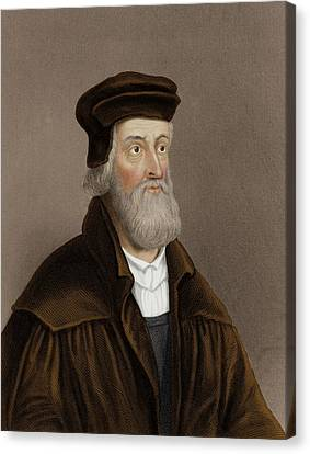 John Wycliffe Canvas Print by Maria Platt-evans