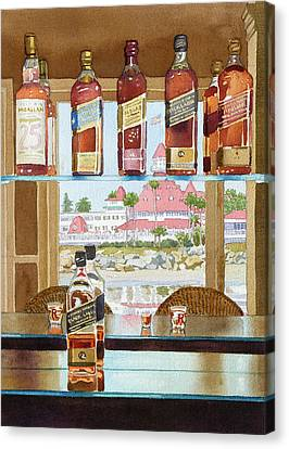 Johnnie Walker And Del Canvas Print by Mary Helmreich
