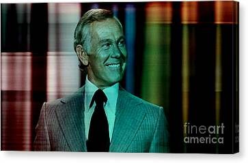 Johnny Carson Canvas Print by Marvin Blaine