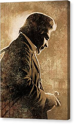 Johnny Cash Artwork Canvas Print by Sheraz A