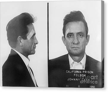 Johnny Cash Folsom Prison Canvas Print by David Millenheft