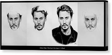 Johnny Depp 4 Canvas Print by Andrew Read