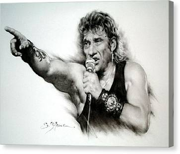 Johnny Halliday Canvas Print by Guillaume Bruno