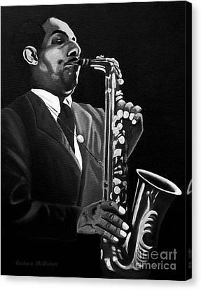 Johnny Hodges Canvas Print by Barbara McMahon