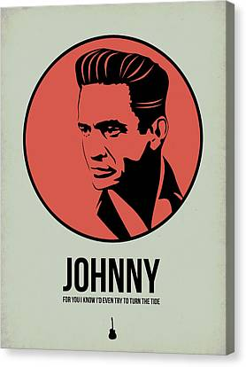 Johnny Poster 2 Canvas Print by Naxart Studio