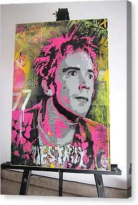 Johnny Rotten Canvas Print by John Little