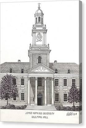 Johns Hopkins University Canvas Print by Frederic Kohli