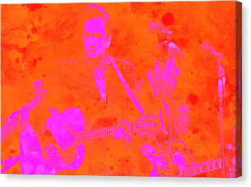 Johny Cash 3 Canvas Print by Brian Reaves