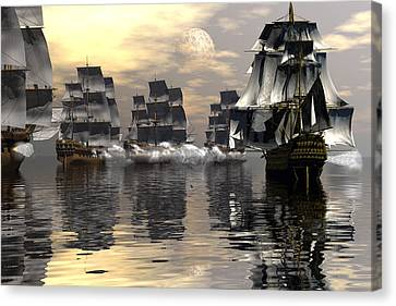 Joining The Fray Canvas Print by Claude McCoy