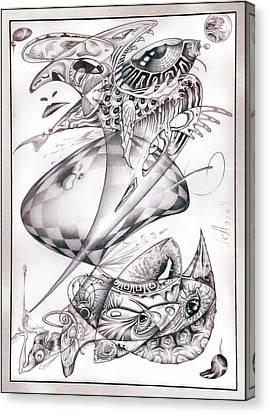 Joker. Ambivalence Canvas Print by Alan Adrian Styx