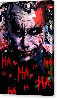Joker Canvas Print by Jeremy Scott