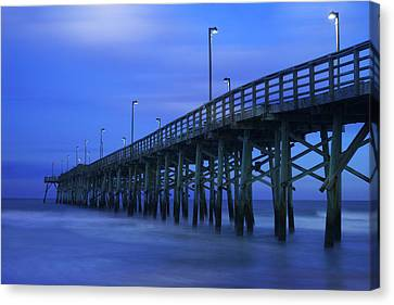Jolly Roger Pier After Sunset Canvas Print by Mike McGlothlen