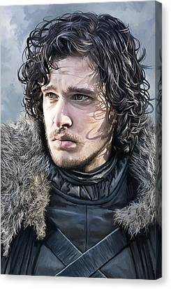 Jon Snow - Game Of Thrones Artwork Canvas Print by Sheraz A