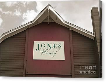 Jones Winery Barn Canvas Print by John Turek
