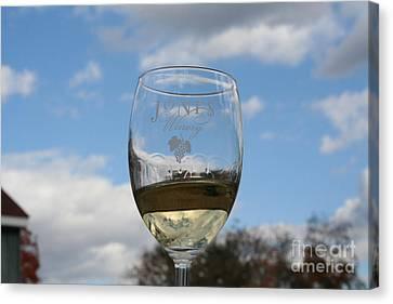 Jones Winery Glass.01 Canvas Print by John Turek