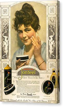 Jonteel 1900s Usa Face Cream Canvas Print by The Advertising Archives