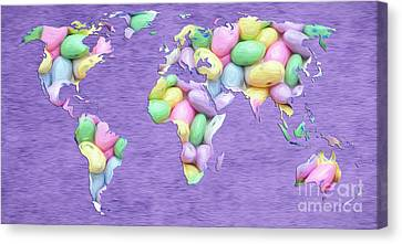 Jordan Almond World Painting Canvas Print by Andee Design