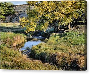 Jordan Creek Autumn Canvas Print by Bruce Morrison