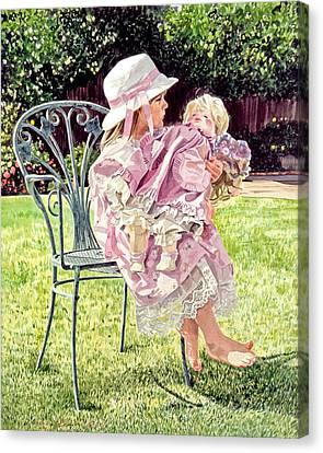 Jordan Foster - Garden Girl Canvas Print by David Lloyd Glover