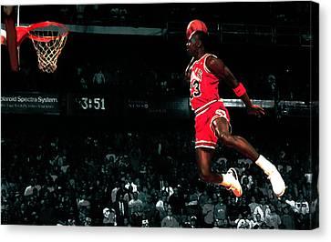 Jordan In Flight Canvas Print by Brian Reaves
