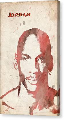 Jordan Canvas Print by Paulette B Wright