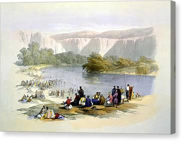 Jordan River Canvas Print by Munir Alawi