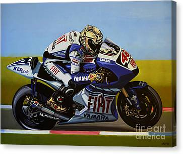 Jorge Lorenzo Canvas Print by Paul Meijering