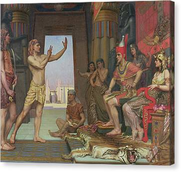 Joseph Interpreting Pharaohs Dream, 1894 Canvas Print by Reginald Arthur