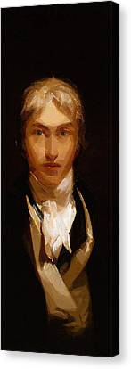 Joseph Mallord William Turner Portrait Canvas Print by Celestial Images
