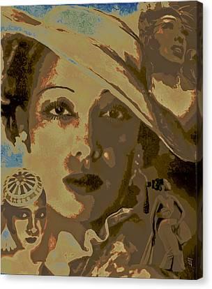 Josephine Baker Story Canvas Print by  Fli Art