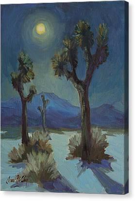 Joshua Moonlight 2 Canvas Print by Diane McClary