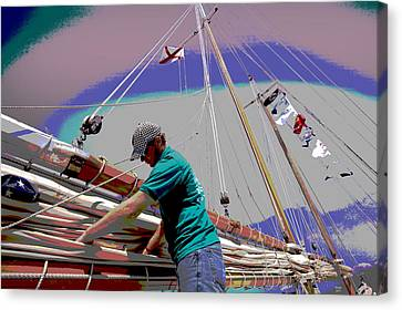 Joshua On Mobile Bay Canvas Print by Charles Shoup