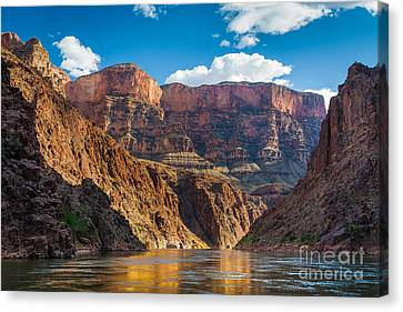 Colorado River Canvas Print featuring the photograph Journey Through The Grand Canyon by Inge Johnsson