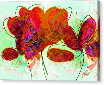 Joy Flower Abstract Canvas Print by Ann Powell