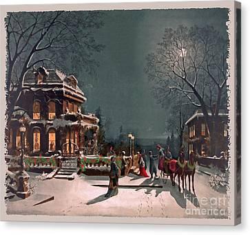 Joy Of The Season Canvas Print by Lianne Schneider