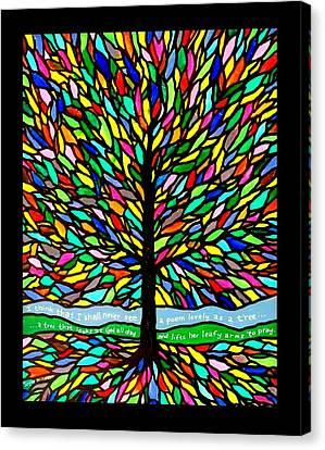 Joyce Kilmer's Tree Canvas Print by Jim Harris