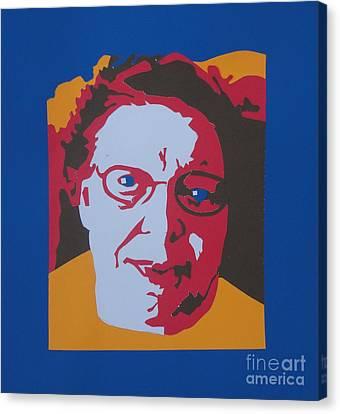 Joyce's Portrait Canvas Print by PainterArtist FINs husband Maestro
