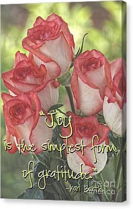 Joyful Gratitude Canvas Print by Peggy Hughes