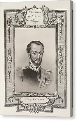 Juan Lavalle Canvas Print by British Library